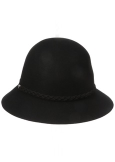 Nine West Women's Felt Cloche Hat With Braid Detail