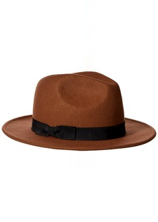 Nine West Women's Felt Flat Brim Fedora Hat