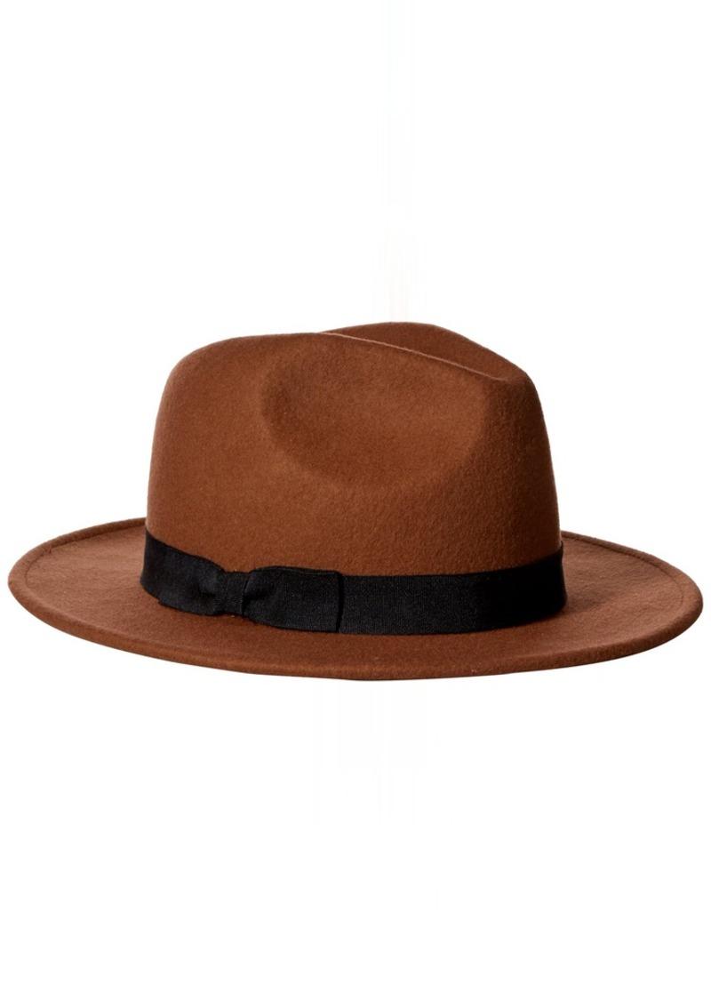 Nine West Nine West Women s Felt Flat Brim Fedora Hat  3c6daab6b