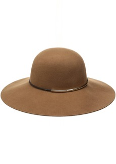Nine West Women's Felt Floppy Hat With Metal Tube