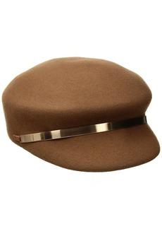 Nine West Women's Felt Newsboy Hat with Metal Trim