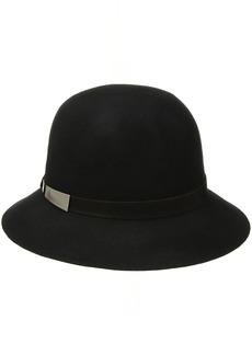 Nine West Women's Felt Raw Cut Cloche Hat