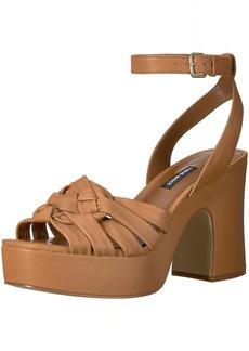 Nine West Women's Fetuchini Leather Heeled Sandal