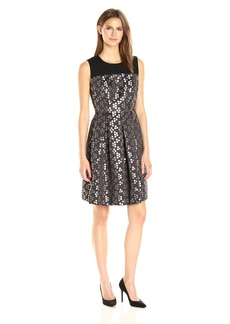Nine West Women's Fit and Flare Dress With Yoke