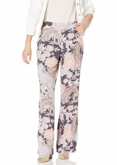 Nine West Women's Flare Bottom Printed Pant  M