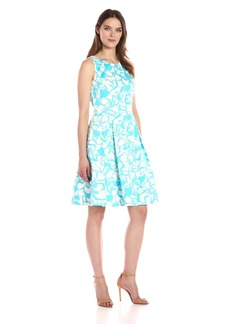 Nine West Women's Floral Fit and Flare Dress