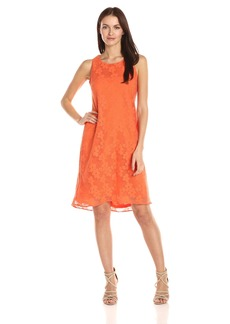 Nine West Women's Floral High Low Shift Dress