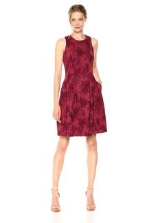 Nine West Women's Floral Jacquard Printed Dress