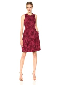 Nine West Women's Floral Jacquard Printed Dress