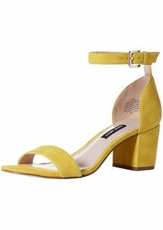 Nine West Women's Frostbite Suede Heeled Sandal Yellow
