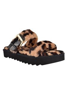 Nine West Women's Funkie Furry Slide Sandals Women's Shoes