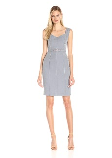Nine West Women's Gingham Belted Dress