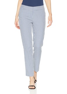 Nine West Women's Gingham LINE Skinny Pant