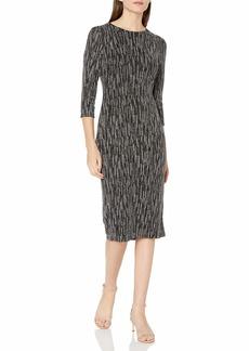 NINE WEST Women's Glitter Dot Metallic Knit T Shirt Dress