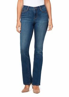 NINE WEST Women's Gramercy Mini Boot Cut Full Length Jean