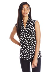 Nine West Women's Heart Printed Funnel Neck Cami