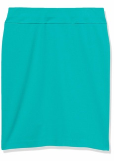 NINE WEST Women's Heavy Cool Crepe Pull ON Yoke Skirt ATLANTIS-111 L