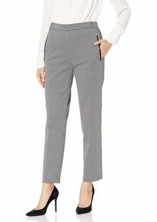 NINE WEST Women's Houndstooth Elastic Slim Leg Pant  S