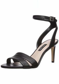 Nine West Women's INCHECK Leather Heeled Sandal
