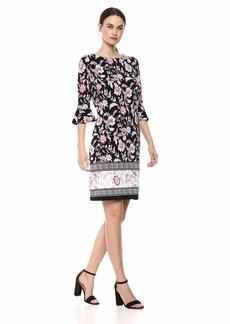 Nine West Women's ITY Ruffle Sleeve Dress