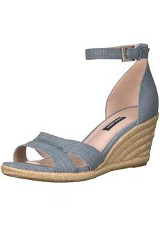 Nine West Women's Jabrina Leather Wedge Sandal