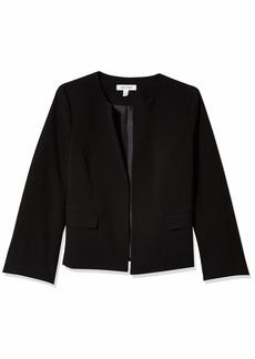 NINE WEST Women's Jewel Collar Flare Sleeve Stretch Jacket with Pockets  L