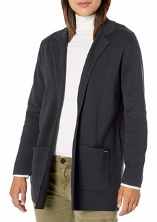 NINE WEST Women's Kissing Front Patch Pocket Cardigan with Notch Collar
