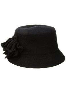 Nine West Women's Knit Microbrim Hat with Flower