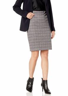 Nine West Women's Knit Plaid Skirt