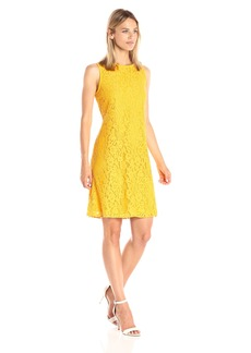 Nine West Women's Lace Trapeze Dress
