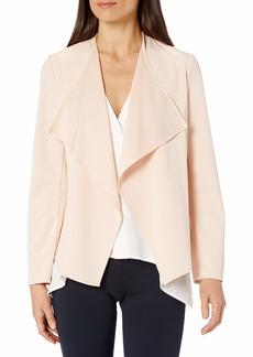 NINE WEST Women's Long Sleeve Solid Soft Crepe Jacket  L