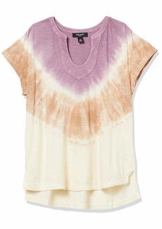 NINE WEST Women's Lorelai Vneck High Low Tee Shirt
