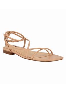 Nine West Women's Mandie Square Toe Ankle Strap Sandals Women's Shoes