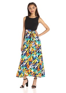 Nine West Women's Maxi Length Dress with Tie at Waist