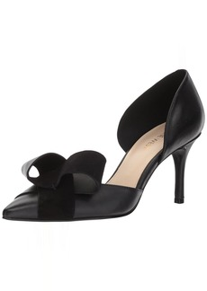 Nine West Women's MCFALLY Pump Black Leather
