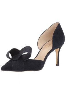 Nine West Women's MCFALLY Suede Pump Navy