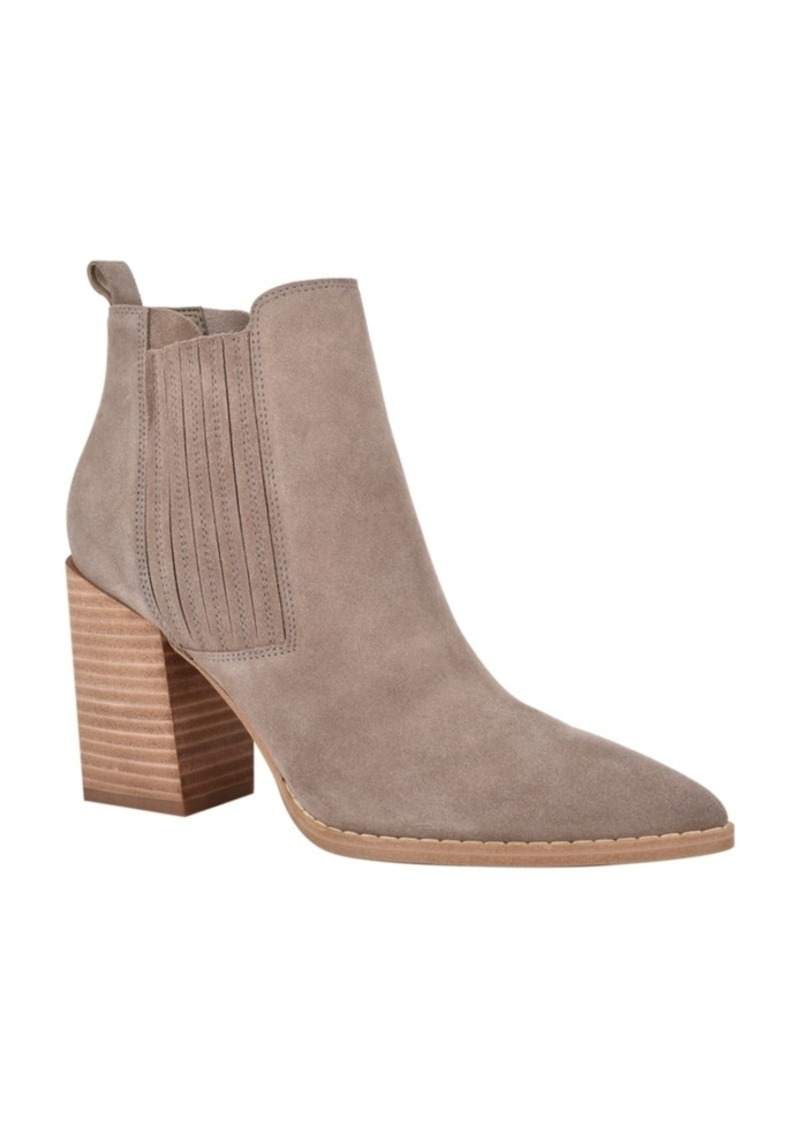 Nine West Women's Medium Beata Block Heel Ankle Booties Women's Shoes