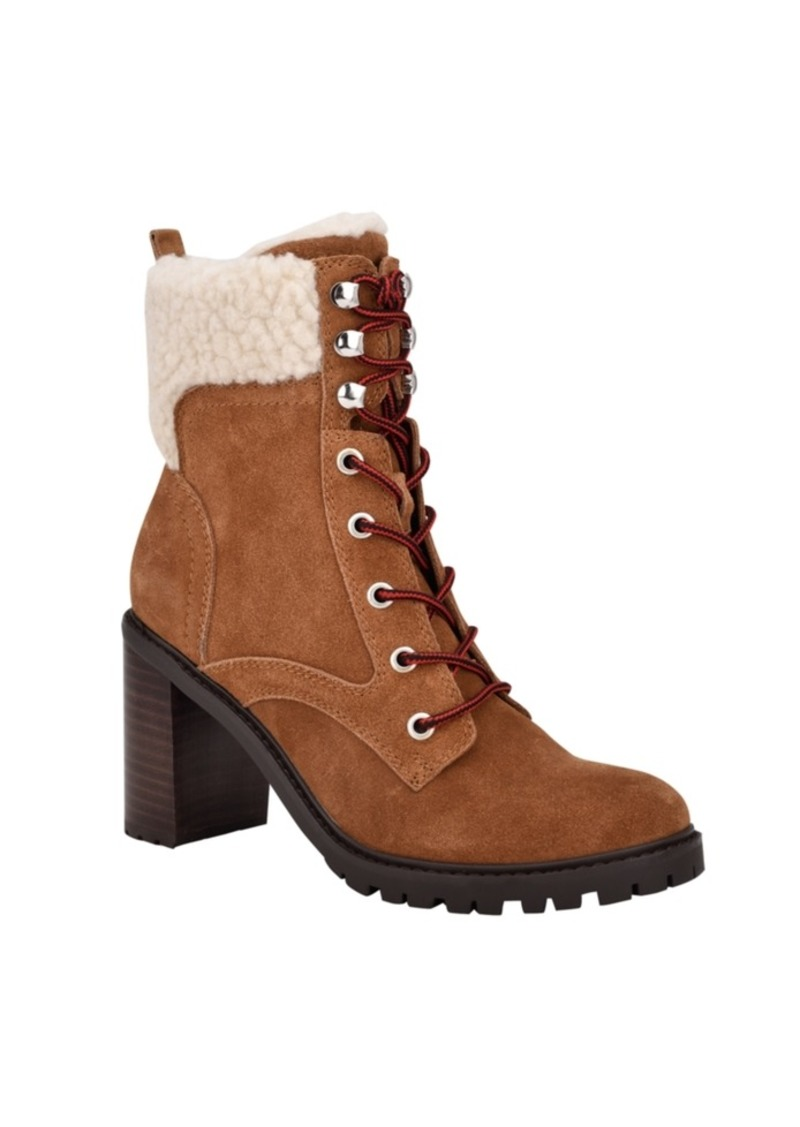 Nine West Women's Perli Lug Sole Heeled Booties Women's Shoes