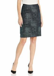 NINE WEST Women's Metallic Knit Skirt  L