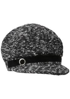 Nine West Women's Metallic Newsgirl Hat