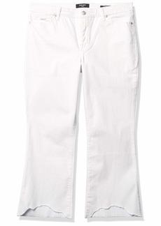 NINE WEST Women's Misses Gramercy Kick Boot Cut Crop Length Jean