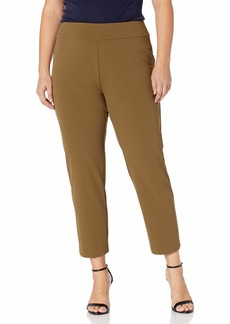NINE WEST Women's Plus Size Pull ON Crepe Pant