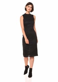 Nine West Women's Mock Turtleneck Sleeveless Sheath Dress