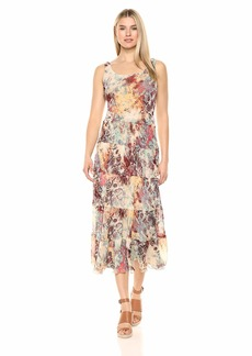Nine West Women's Multi Tier Maxi Dress