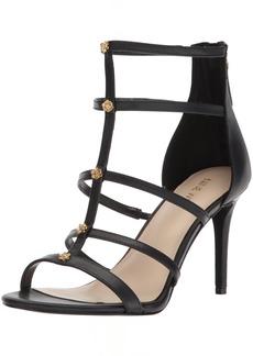 Nine West Women's NAYLER Leather Heeled Sandal Black