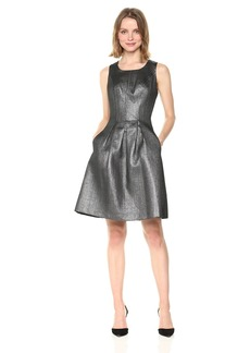 Nine West Women's Novelty Metallic Dress