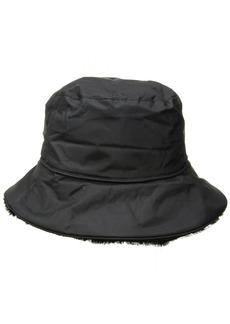 Nine West Women's Nylon Reversible Faux Fur Bucket Hat