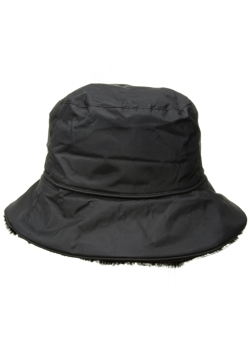 3a8d0aca1cfc9 Nine West Nine West Women s Nylon Reversible Faux Fur Bucket Hat ...