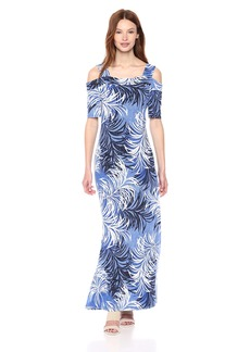 Nine West Women's Off The Shoulder with Straps Maxi Dress