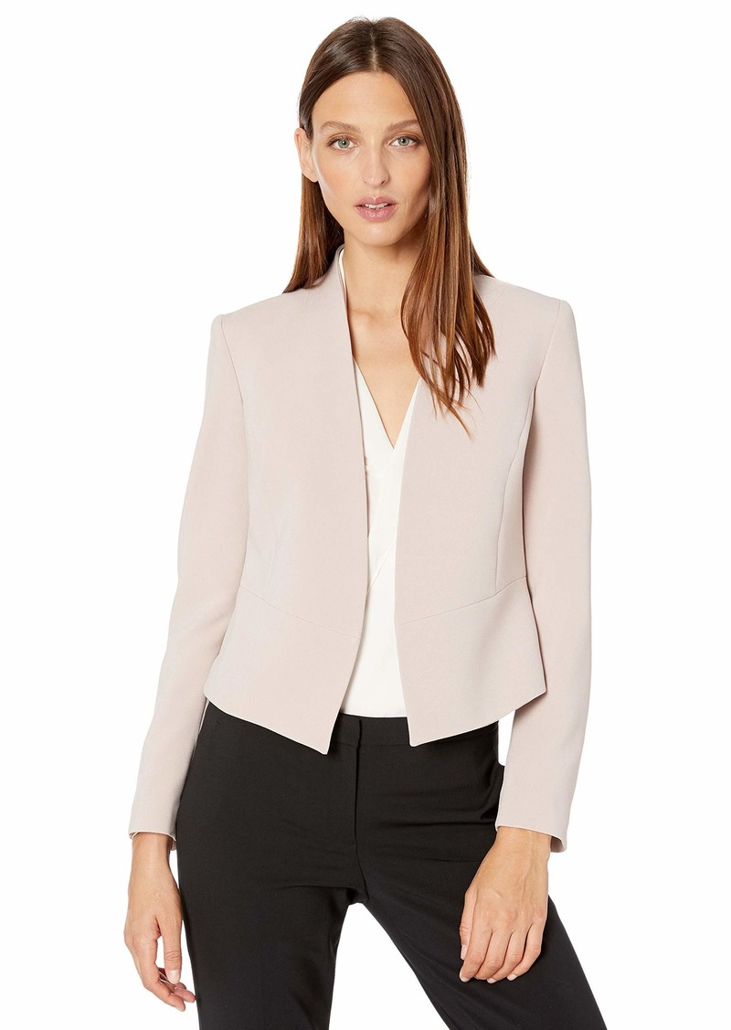 Nine West Women's Open Front Crepe Jacket